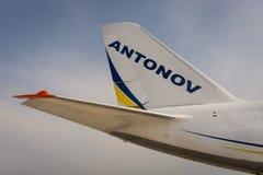 Queue des avions Antonov de cargaison Photographie stock