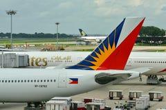 Queue des lignes aériennes Airbus 330 de Philippines Photographie stock libre de droits