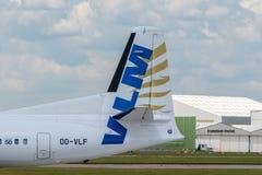 Queue du Fokker F50 de VLM Photos libres de droits