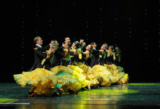 Queue-The French Cancan-the Austria's world Dance Royalty Free Stock Photography