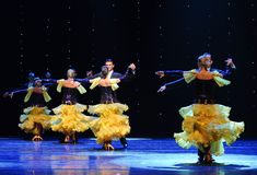 Queue-The French Cancan-the Austria's world Dance Stock Photography