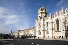 Queue in front of the Jerónimos Monastery Royalty Free Stock Photo