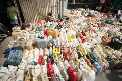 Queue kerosene stock photo