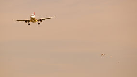 Queue for landing. Queue for landing at London Heathrow Airport Stock Image