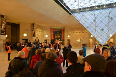 The queue at the Louvre Royalty Free Stock Photos