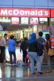 Fast food restaurant queue  Stock Photo