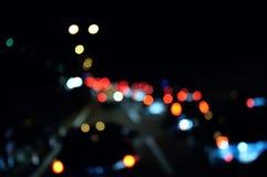 Queue on the motorway. Blurred image of queue on the motorway Stock Image