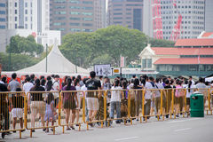 Queue at the Padang Singapore Stock Images