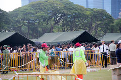 Queue at the Padang Singapore Stock Image