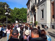 Queue At Prado, Madrid Royalty Free Stock Photos