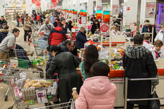 Queue at the supermarket Royalty Free Stock Photo