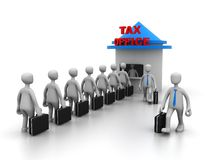 Queue For Tax Payment. This image represents queue for tax payment Royalty Free Stock Photography
