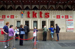Queue for Theatre Tickets Royalty Free Stock Images