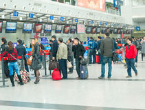 queue for ticket  Royalty Free Stock Images