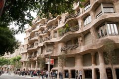 The queue to Casa Mila barcelona Stock Photography