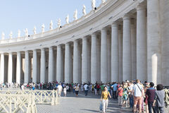 Queue to enter St. Peter's Basilica, Vatican Stock Photos