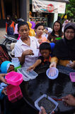 Queue to get porridge Royalty Free Stock Photo