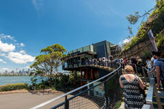Queue to the Taronga Zoo entrance Stock Photography
