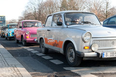 Queue of Trabant cars Stock Image