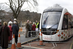 Queue for tram Royalty Free Stock Photography