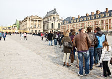 Queue for Versailles palace Royalty Free Stock Photo
