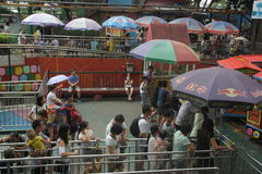 The queue of visitors IN SHENZHEN Stock Photography
