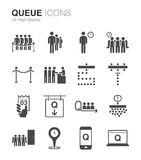 Queue and waiting icons Stock Photos