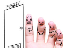 Queued in the toilet symbol of health Stock Photography