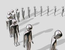 Queueing aluminium Man Stock Photos