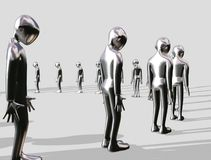 Queueing aluminium Man Royalty Free Stock Photography