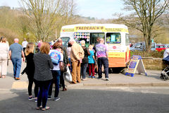 Queueing for ice cream. Royalty Free Stock Images