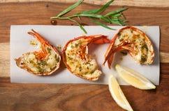 Queues de homard grillées photographie stock