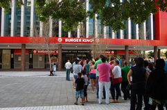 Queues outside burger king Stock Photos