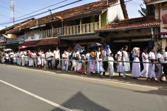Queues of people Royalty Free Stock Images