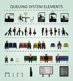 Queuing system elements. Royalty Free Stock Photos
