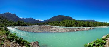Queulat National Park, Aysen, Patagonia, Chile. River in Queulat National Park, Aysen, Patagonia, Chile, South America Royalty Free Stock Image