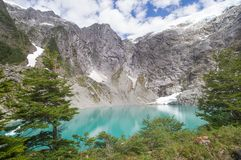 Queulat National Park, Chile. Gnomes lagoon on the Bosque Encantado trail of Queulat National Park, Chile Stock Images