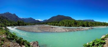Queulat nationalpark, Aysen, Patagonia, Chile Royaltyfri Bild