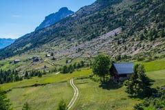 Queyras ceillac Riaille в alpes hautes в Франции стоковая фотография