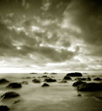 Quezon in Duotone. The Quezon coastline captured during dawn in duotone royalty free stock image