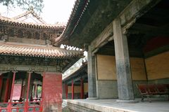 """Qufu """"three holes"""". Qufu Confucian Temple, located 300 meters west of Drum Tower in central Qufu, is a memorial temple for Confucius, a famous thinker stock images"""