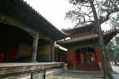 """Qufu """"three holes"""". Qufu Confucian Temple, located 300 meters west of Drum Tower in central Qufu, is a memorial temple for Confucius, a famous thinker royalty free stock photography"""