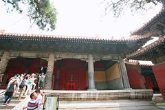 Qufu three holes. Qufu Confucian Temple, located 300 meters west of Drum Tower in central Qufu, is a memorial temple for Confucius, a famous thinker and educator Stock Photography