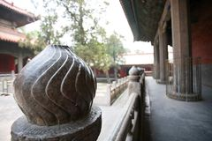 Qufu three holes. Qufu Confucian Temple, located 300 meters west of Drum Tower in central Qufu, is a memorial temple for Confucius, a famous thinker and educator Stock Images