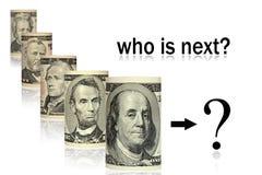 Quién es presidente siguiente stock de ilustración