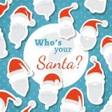 ¿Quién es su Papá Noel? stock de ilustración
