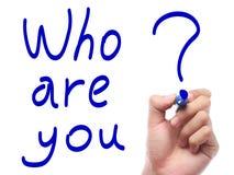 Quién son usted Imagen de archivo libre de regalías