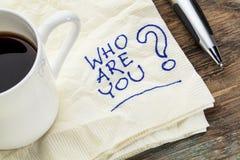 Quién son usted pregunta Imágenes de archivo libres de regalías