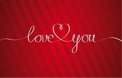 Quiérale corazón Letras dibujadas mano Imagen de archivo libre de regalías