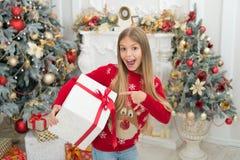 Qui était vilain cette année achats en ligne de Noël Vacances de famille An neuf heureux L'hiver Le matin avant Noël peu photos stock